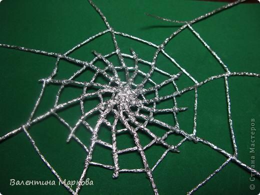 Мастер-класс Поделка изделие Плетение Паучок в серебряной паутине  мастер-класс по просьбе Фольга фото 30