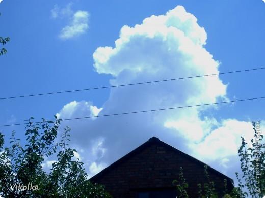 """Люблю смотреть на облака! Всегда засматриваюсь на них, не думая о том, что так можно и упасть :-))! И если есть возможность - фотографирую. А возможность есть в основном на даче. Приглашаю всех, небезразличных к """"небесным странникам"""", на мою страничку! фото 1"""