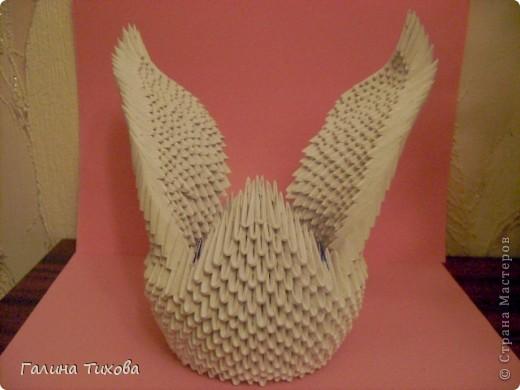 Модульное оригами черный лебедь схема