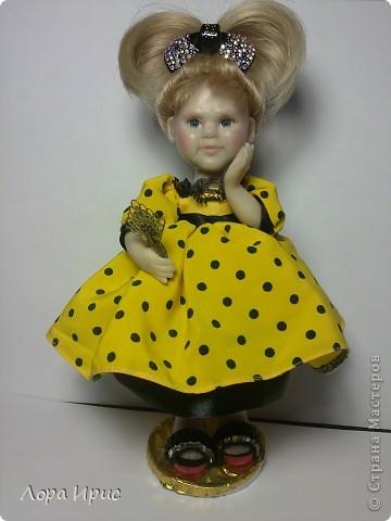 Кукла выполнена из Цернита. Высота 20 см.  фото 1