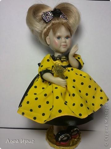 Кукла выполнена из Цернита. Высота 20 см.  фото 3