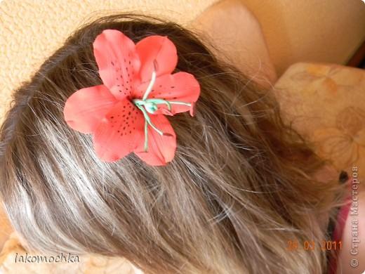 Лилия в волосах моей старшей дочери....Подскажите что не так... фото 1