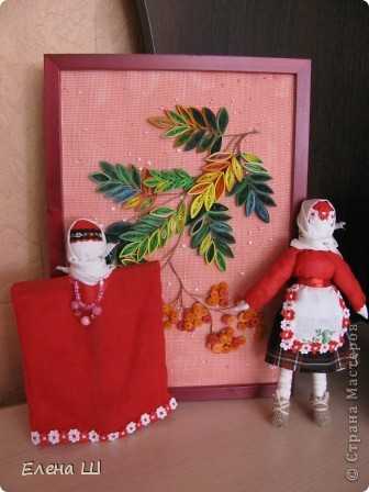 """Обе куколки имеют одно название """"Рябинка"""", только разный процесс изготовления фото 1"""