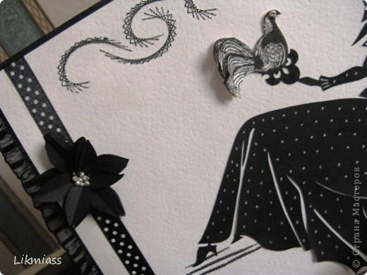 Всем привет и моя черно-белая серия с полюбившейся изонитью. Итак.... Вечерело. Я сидела под сенью роскошной ( для красного словца) изонити,  под ногами у меня небрежно расположились жемчуга. Я мечтала... фото 4