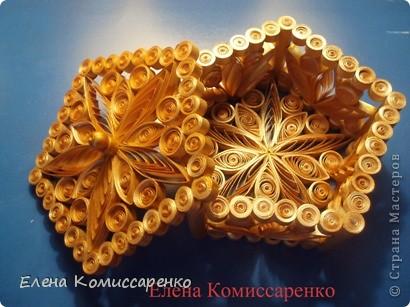 Шкатулка с цветком. Выполнена по технологии: каркас+заполнение ажурными элементами фото 5