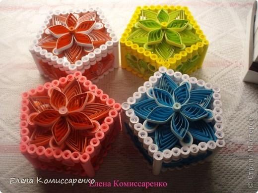 Шкатулка с цветком. Выполнена по технологии: каркас+заполнение ажурными элементами фото 6