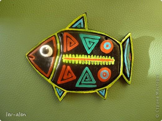 Рыбка с узором индейцев Куна фото 3