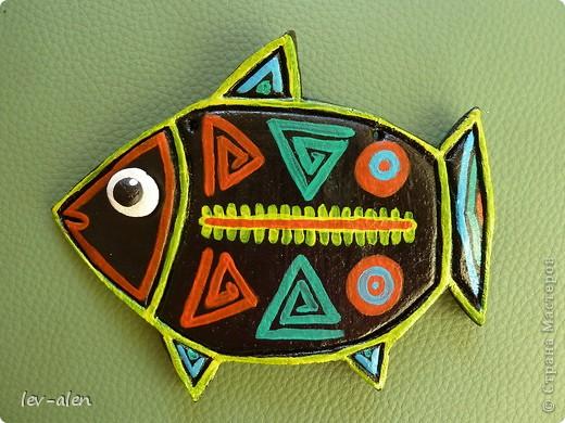 Рыбка с узором индейцев Куна фото 1