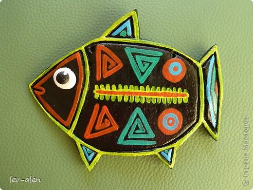 Рыбка с узором индейцев Куна фото 2