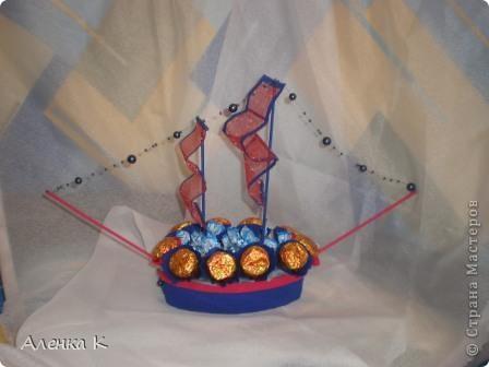 Конфетный мини-корабль. фото 1