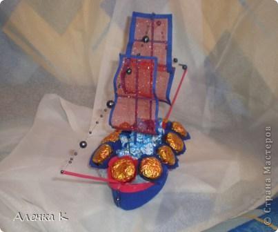 Конфетный мини-корабль. фото 2