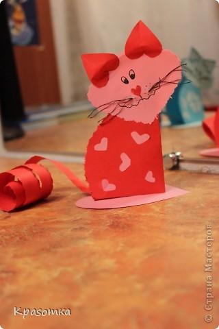 Мои котики из бумажных сердечек. фото 3