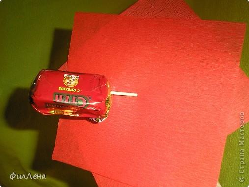 Не успевая испечь торт на день рождения племяннице, решила позаимствовать идею конфетного букетика на сайте. фото 7