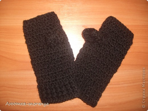 Перчатки-митенки фото 2