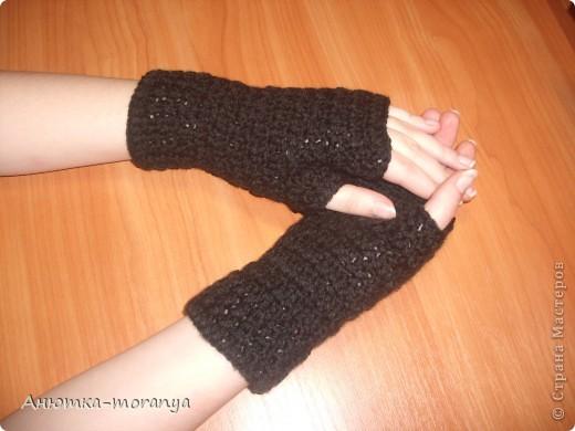 Перчатки-митенки фото 1