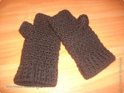 Перчатки-митенки фото 3