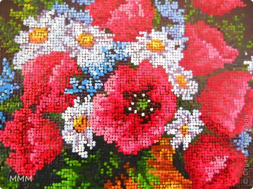 картина выполнена точками акриловыми красками ,примерно 18 000 точек. фото 1