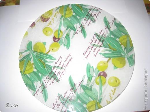 """Вот такая """"оливковая"""" тарелочка. фото 3"""