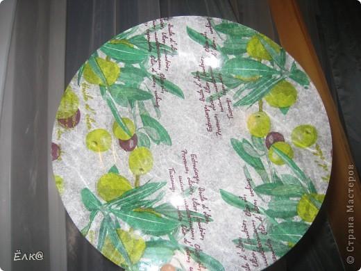 """Вот такая """"оливковая"""" тарелочка. фото 4"""