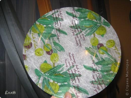 """Вот такая """"оливковая"""" тарелочка. фото 1"""