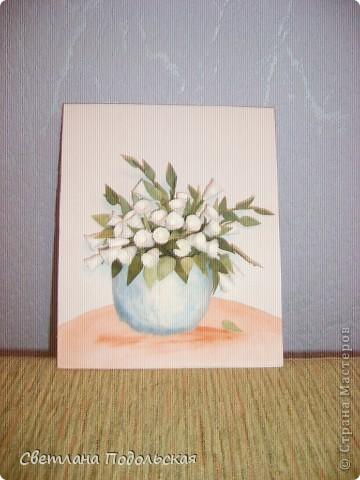 Здравствуйте!! Вот такие белые цветы были сделаны давно ,но фото выставляю только сейчас. Очень они мне нравятся. фото 2