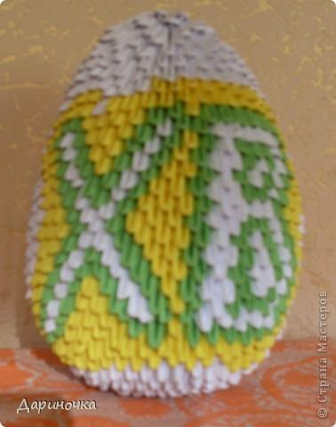 Пасхальное яйцо (модульное оригами) фото 2