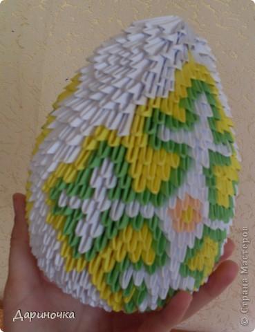 Пасхальное яйцо (модульное оригами) фото 5