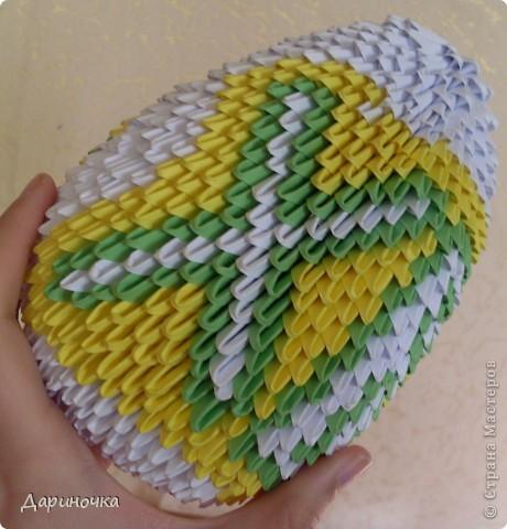 Пасхальное яйцо (модульное оригами) фото 6