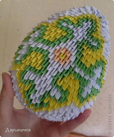 Пасхальное яйцо (модульное оригами) фото 1