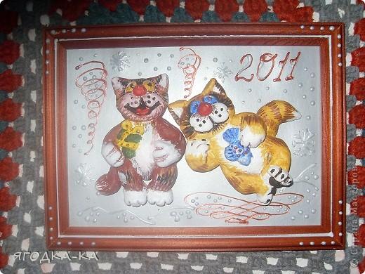 1.Котики к Новому году лепились.Это фото со вспышкой. фото 1