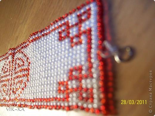 решила маме на день рождение браслет из бисера сплести. нашла в интернете вот такую картинку,очень понравился и я решила что буду его делать. фото 4