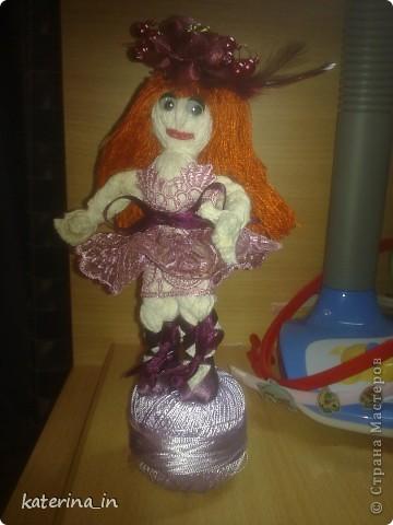 Делала просто куколку моей дочке,а получилась балеринка. фото 1