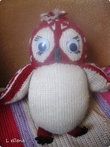 Вязанная игрушка Сова фото 1