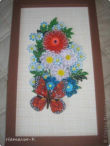 Верхний цветок научилась делать по МК от Ларисы Засадной. Спасибо тебе Лариса! Рамочка тоже из бумаги 23х38.