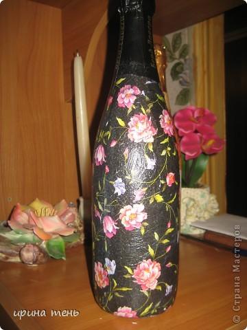Бутылочка Розы в черном