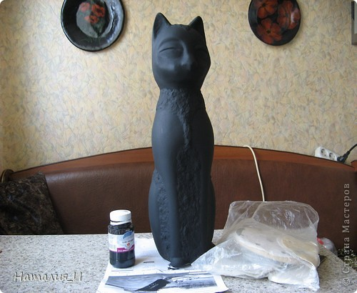 как я делала статуэтку Кот МК (продолжение) фото 2