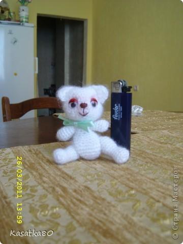 Вот вязала киску, а получился мишка :-)