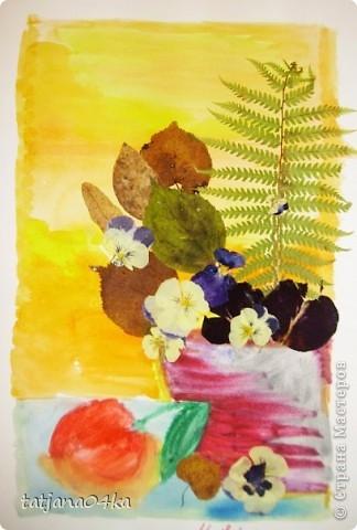 """""""Девочка-осень"""" ,сухоцветы,акварель фото 2"""