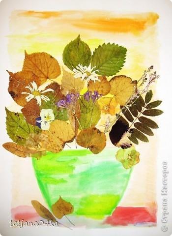 """""""Девочка-осень"""" ,сухоцветы,акварель фото 9"""