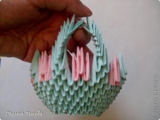 Поделка изделие Оригами китайское модульное Ваза Мастер-класс Бумага фото 12