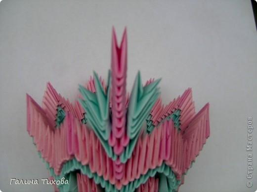Поделка изделие Оригами китайское модульное Ваза Мастер-класс Бумага фото 22