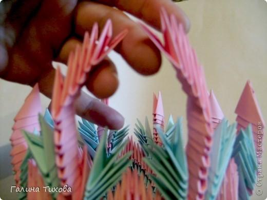 Поделка изделие Оригами китайское модульное Ваза Мастер-класс Бумага фото 24