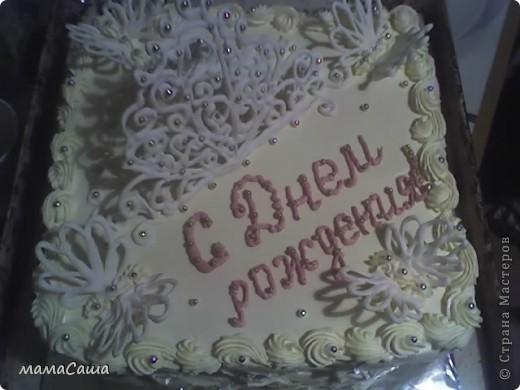 Киевский тортик. Впервые испробовала украшения из белка фото 1