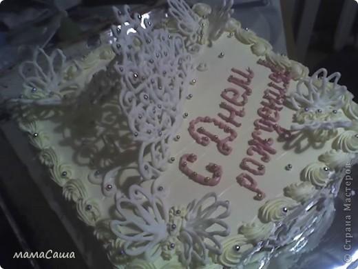Киевский тортик. Впервые испробовала украшения из белка фото 2