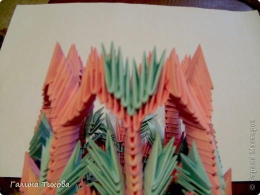 Поделка изделие Оригами китайское модульное Ваза Мастер-класс Бумага фото 27