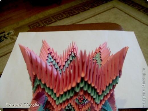 Поделка изделие Оригами китайское модульное Ваза Мастер-класс Бумага фото 30