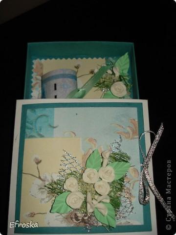 Эту коробочку делала на юбилей для любимого родственника. Мк по изготовлению самой коробочки здесь: http://mu-ha.blogspot.com/2009/09/blog-post_11.html фото 4