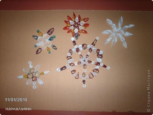 снежинки. работы  учеников 3 класса