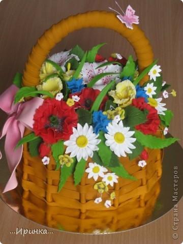 """торт """"Корзина с цветами""""... фото 1"""