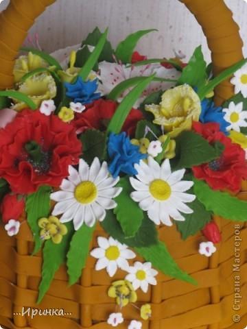 """торт """"Корзина с цветами""""... фото 3"""